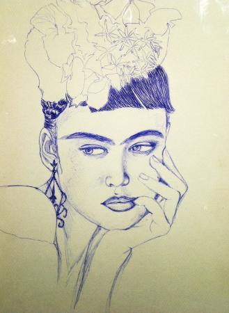Mexicaine à la Frida Kahlo