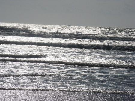 La mer à l'arrivée