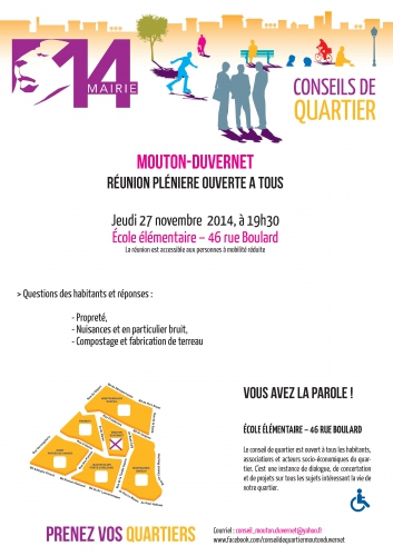 Conseil de quartier Mouton-Duvernet