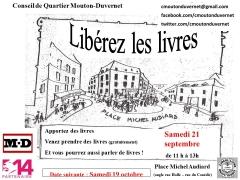 Circul'livre , Conseil de quartier Mouton-Duvernet 75014, place Michel Audiard