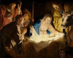 Nativité Gerrit-van-Honthorst-L'Adoration-des-bergers.png
