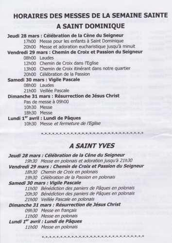 Saint dominique horaires de la Semaine Sainte 2013.jpg