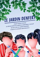 jardin denfert pique-nique citoyen 17 juillet 61 boulevard Saint Jacques.jpg