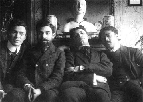 amadeode de  Souza  Cardoso à Montparnasse avec des artistes Portugais en 1907.jpg