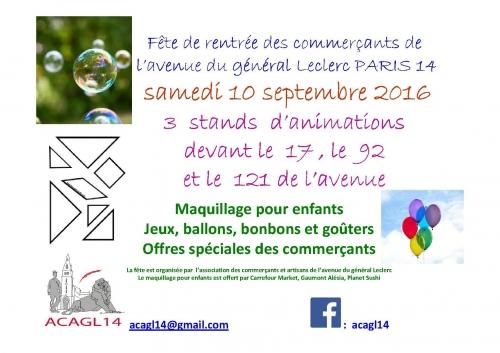 Fête de rentrée des commerçantsde l'avenue du général Leclerc 17, 92 et 121 avdu général Leclerc 10 septembre  2016.jpg