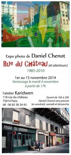 Daniel Chenot flyer-expo-1 du 1er au 15 novembre 2014.JPG
