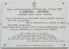 Plaque_Hôtel_Istria,_29_rue_Campagne-Première,_Paris_14.jpg
