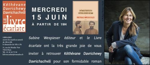 Le livre ecarlate rencontre avec Kéthévane Davrichewy Davrichachvili  15 juin 2016.jpg
