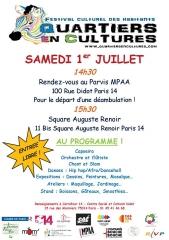 quartiers en culture rue Didot, square auguste Renoir 1er juillet 2017.jpg