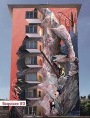 fresque de la rue du père corentin esquisse 3 gens qui escaladent.jpeg