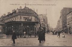 avenue d'orléans avenue de chatillon devenues les avenues du général leclerc et l'avenue jean moulin  café le puits rouge maintenant immeubles modernes et banque.jpg