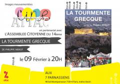 La tourmente grecque 9 février 2015 aux 7 parnassiens.png