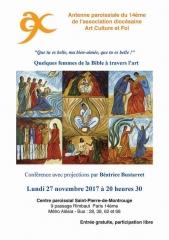 Art culture et Foi  27 novembre 2017 Béatrice Bustarret femmes ds la  bible 2.jpg