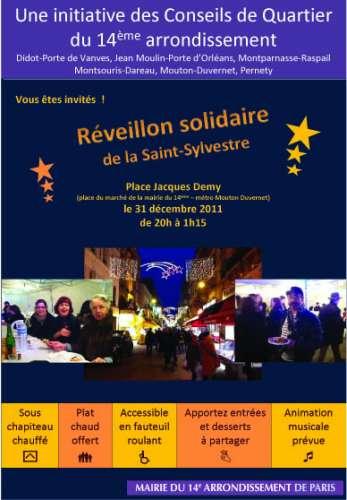 paris 14e,mairie 14,réveillon,solidaire
