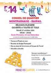 conseil de quartier Montparnasse Raspail mardi 27 octobre 2015.jpg