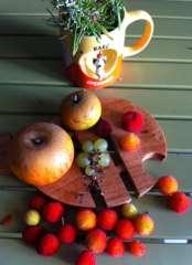 Début d'automne arbouses, pommes et raisin  photo composition Marie Belin sept 2014.JPG