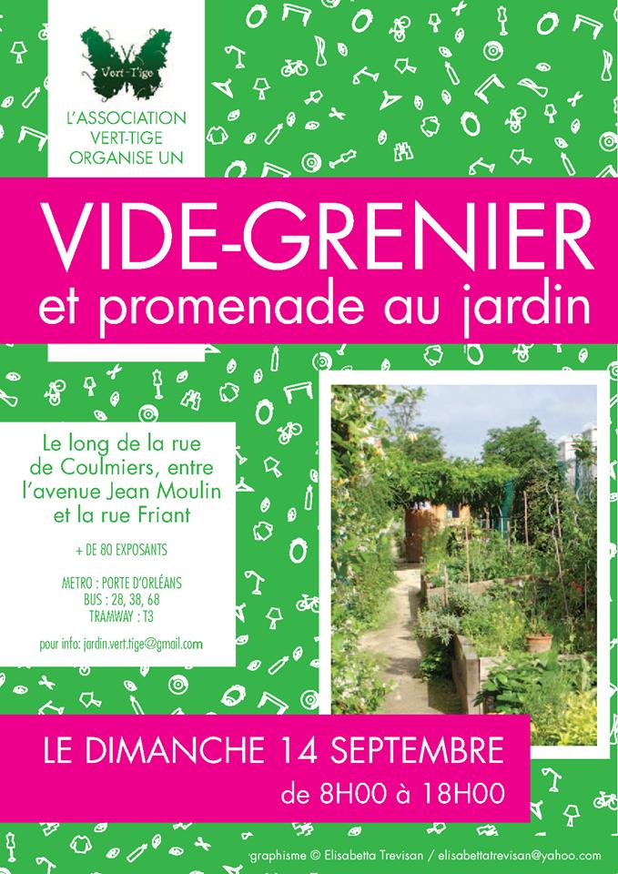 Vide grenier et promenade au jardin rue de coulmiers 14 for Au jardin info