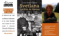 le livre Ecarlate 17 avril 2019 rencontre Claude Kiejman pour Svetlana la fille de Staline.jpg
