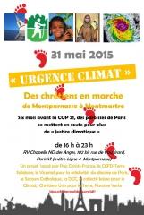 urgence climat des chrétiens en marche de montparnasse à Montmartre dimanche 31 mai 2015.jpg