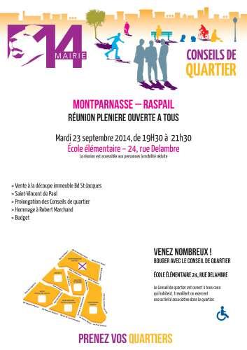 Conseil de quartier Montparnasse Raspail  réunion plénière 23 sept 2014.jpg