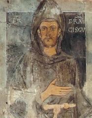St Francois fresque au Sacro Speco Subacio.jpg