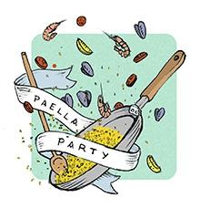 Dessin Paella paëlla party dimanche 5 juin sur le parvis de la mairie du 14ème