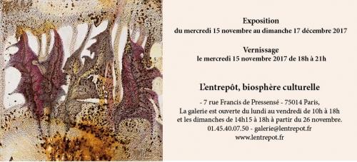 l'entrepôt 15 nov au 17 dec 2017  exposition de Martine Lenormand Papiers roullés invitation .jpg