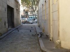 impasse du rouet vers l'avenue jean moulin pavés et bornes cavalières.JPG