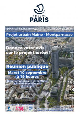 projet urbain Maine Montparnasse réunion publique mardi 10 septembre grand amphi de la MGEN 3 square Max-Hymans 75014.png