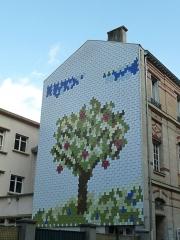 mosaique rue Antoine Chantin , visible en venant de la rue des Plantes.jpg