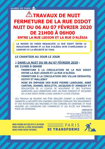 fermeture de la rue Didot nuit du 6 au 7 févier pour travaux Lettre info DIDOT 06 février 2020 VF.png