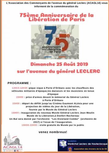 75ème anniversaire de la libération de Paris association des commerçants de l'avenue du général leclerc.jpg