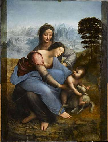 sainte anne,leomard de vinci,louvre,vierge marie,marie,jesus