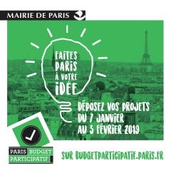 Budget participatif 2019 faites Paris à votre idée réunions et expo dans le hall de la mairie du 14ème du 7 janv au 3 fév 2019.jpg
