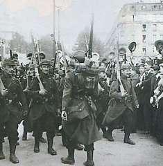 la grande guerre départ des  appelés  Aout14.jpg