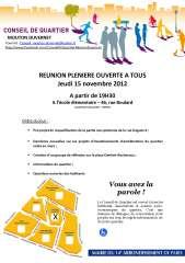 conseil de quartier Mouton- Duvernet