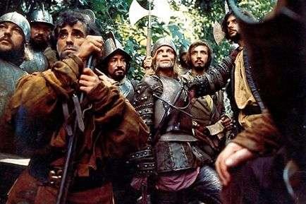 Aguirre les guerriers espagnols Klaus Kinski au milieu.jpg