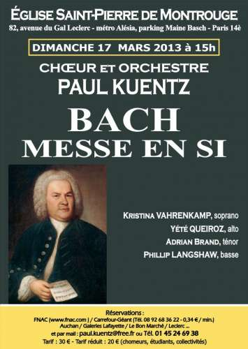 bach, paul kuentz,messe en si