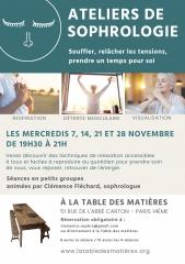 sophrologie,la table des matières - ressourcerie culturelle 51 rue l 'abbé c