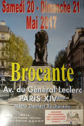 brocante  avenue du général Leclec  Métro denfert-rochereau 20 mai 2017 .jpg