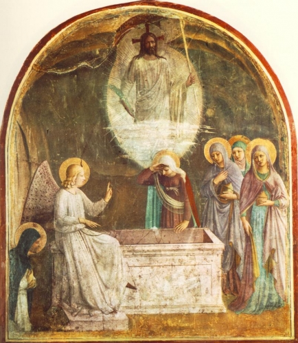 Resurrection du Christ et les femmes au tombeau  par Fra_Angelico_(San_Marco_cell_8).jpg