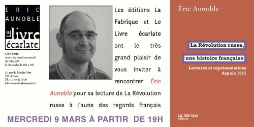 Le livre Ecarlate 9 mars 2016 Eric Aunoble.jpg