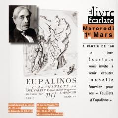 le livre Ecarlate soirée rencontre avec Isabelle fournier mercredi 1 er mars 2017  feuillets d 'eupalinos.jpg