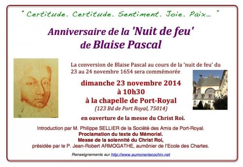 la nuit de feu de Blaise Pascal Memorial 23 nov.jpg
