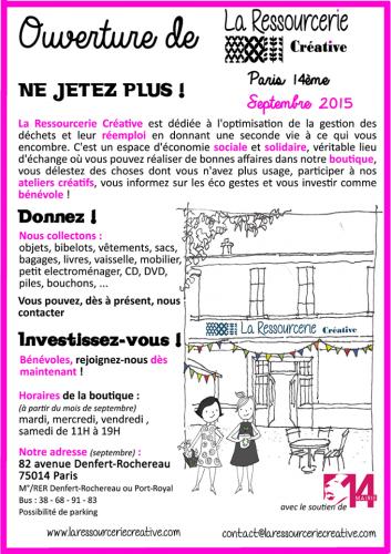 ressourcerie créative 82 avenue Denfert Rochereau affiche.png