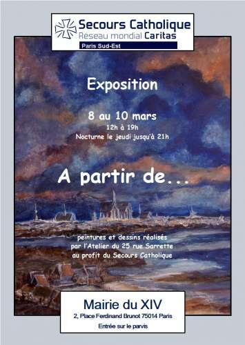 secours catholique,paris 14,mairie 14,la voix du 14e,peinture,atelier,dessins