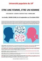 université populaire du 14ème cycle être une femme, être un homme 14 sept au 12 octobre 2015.JPG
