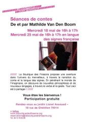 jardin Lionel Assouad 18 rue de Châtillon, SILS langue des signes française,Mathilde Van Den Boom,Association Les Contes sous l'Arbre,Christine Quipourt
