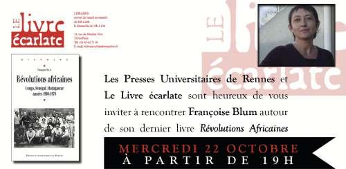 le livre écarlate révolutions africaines de  françoise Blum.jpg