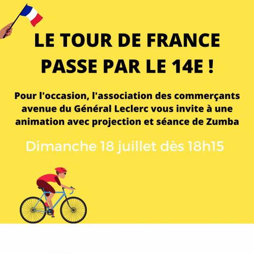 le tour de france passe par le 14ème 18 juillet vers 18h15.png